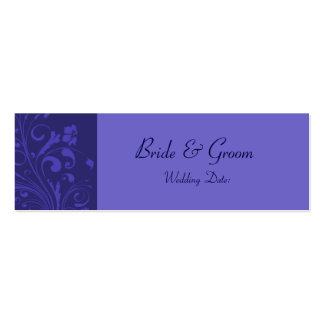Template - Wedding Favor Tag Double-Sided Mini Business Cards (Pack Of 20)