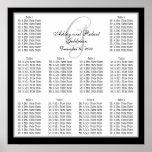 Template Wedding Seating Chart Monogram Names Poster