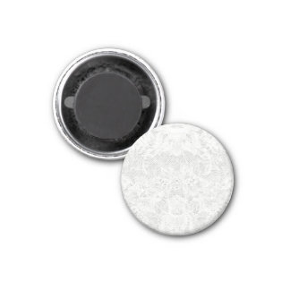 Template - White Lace Background 1 Inch Round Magnet