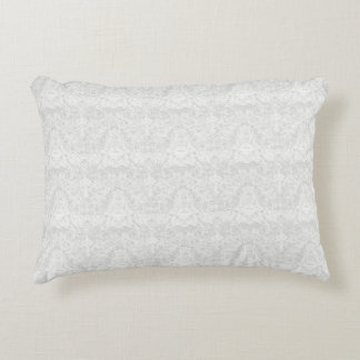 Template - White Lace Background Accent Pillow