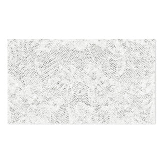 Template - White Lace Background Business Card
