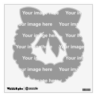 template wreath Wall Decal
