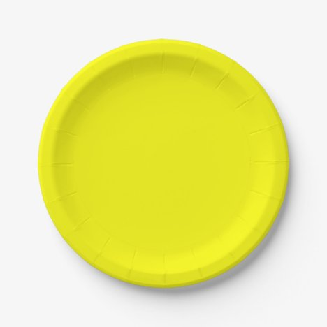 Template Yellow Paper Plate