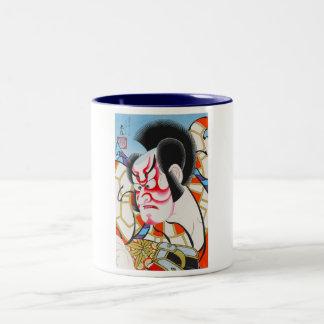 templatki arty japonskie Two-Tone coffee mug
