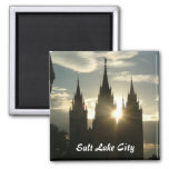 Temple 2 Inch Square Magnet