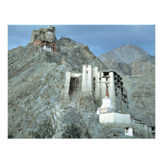 Temple above Royal Palace, Leh, Ladakh, India Flyer