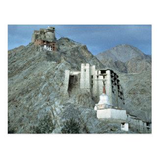 Temple above Royal Palace, Leh, Ladakh, India Postcard