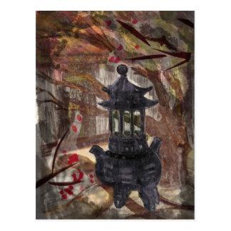 Temple and Incense Burner Postcard