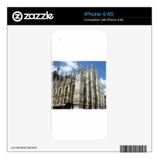 temple and stone pillars skin for iPhone 4