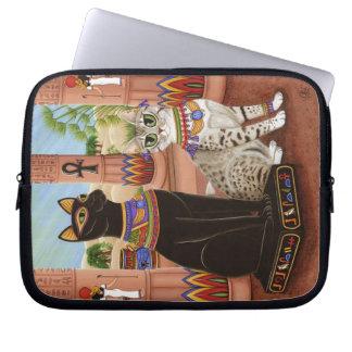 Temple Bastet Cat Egypt Bast Goddess Laptop Sleeve