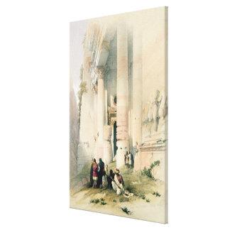 Temple called El Khasne, Petra, March 7th 1839, pl Canvas Prints