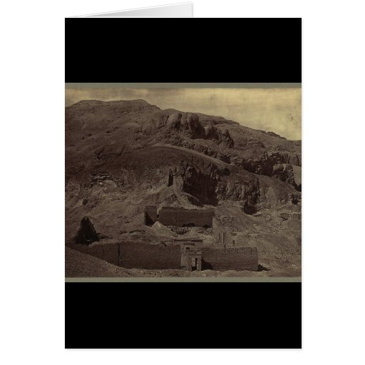 Temple carved into mountainside, Egypt circa 1856 Greeting Card