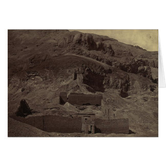 Temple carved into mountainside, Egypt circa 1856 Card