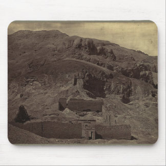 Temple carved into mountainside, Egypt circa 1856 Mouse Pad