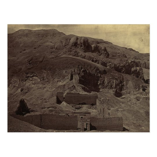 Temple carved into mountainside, Egypt circa 1856 Postcard