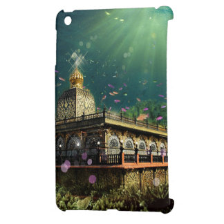 Temple Coral Reef water fantasy green gold iPad Mini Covers