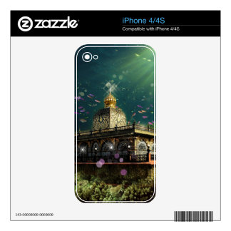 Temple Coral Reef water fantasy green gold iPhone 4S Decals