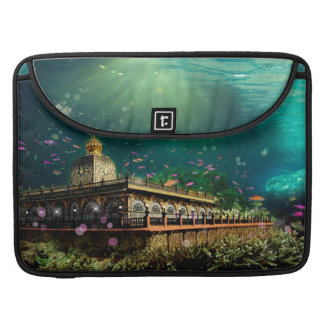 Temple Coral Reef water fantasy green gold MacBook Pro Sleeve