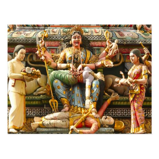 Temple decoration postcards