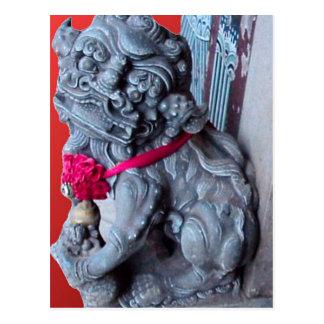 Temple dogs as guardians postcard