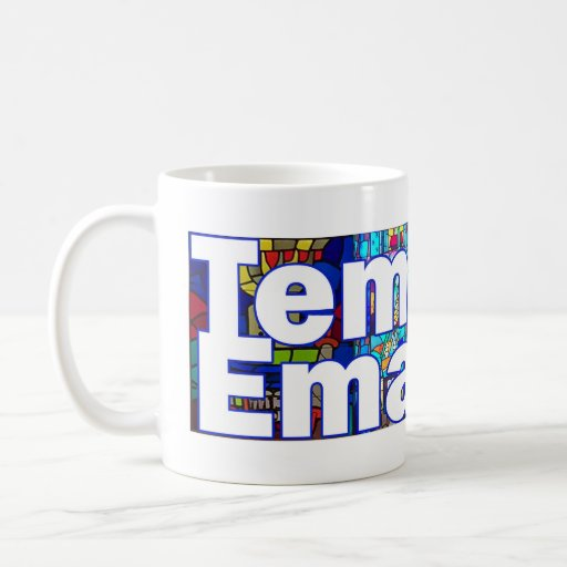 Temple Emanuel Stained Glass Logo Mug