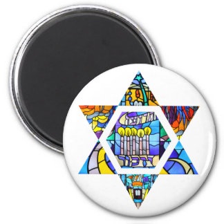 Temple Emanuel Star of Round Magnet