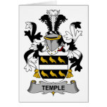 Temple Family Crest Greeting Card