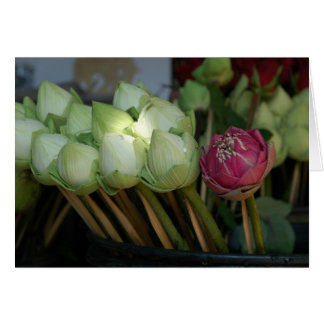 Temple Flowers Stationery Note Card