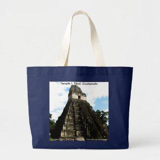 Temple I, Tikal, Guatemala Large Tote Bag