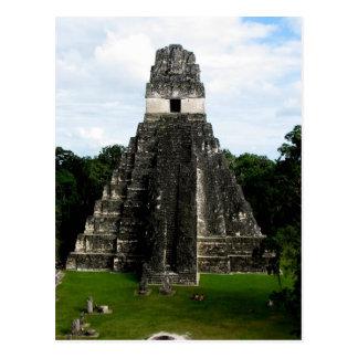 Temple I, Tikal, Guatemala Postcard