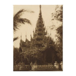 Temple in Mandalay, Burma, late 19th century Gallery Wrapped Canvas