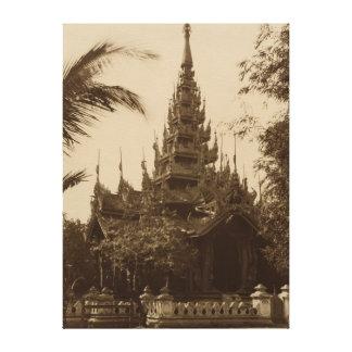 Temple in Mandalay, Burma, late 19th century Canvas Print