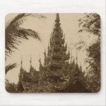 Temple in Mandalay, Burma, late 19th century Mouse Pad