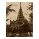 Temple in Mandalay, Burma, late 19th century Postcards