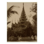 Temple in Mandalay, Burma, late 19th century Poster