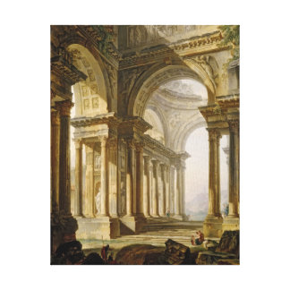 Temple in Ruins Canvas Print