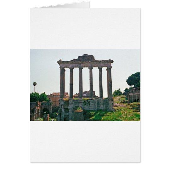 Temple in the Roman Forum Card
