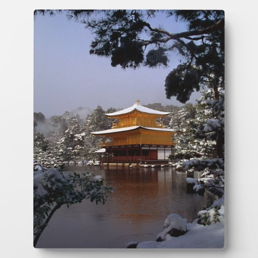 Temple in Winter Plaques