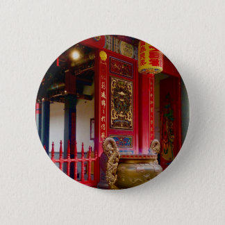 Temple in Yilan, Taiwan Pinback Button