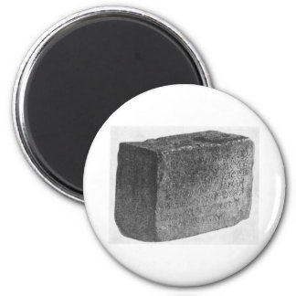 Temple inscription 2 inch round magnet