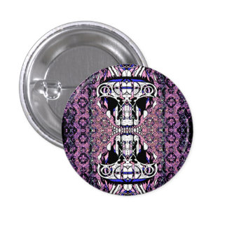 Temple Kitty Pinback Button