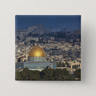 Temple Mount and Dome of the Rock, dawn Pinback Button