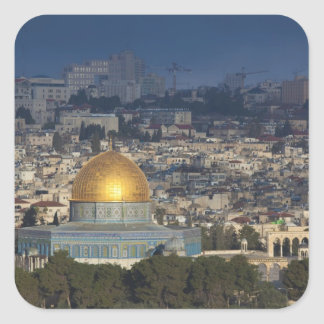 Temple Mount and Dome of the Rock, dawn Square Sticker