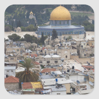 Temple Mount and Dome of the Rock Square Sticker