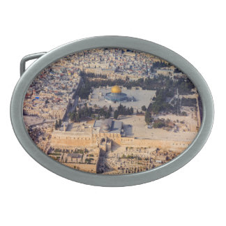 Temple Mount Old City Jerusalem Dome of the Rock Oval Belt Buckle