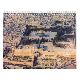 Temple Mount Old City Jerusalem Dome of the Rock Wall Calendars