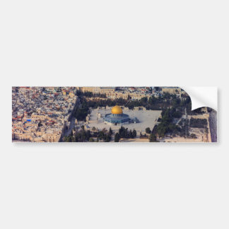 Temple Mount Old City Jerusalem Dome of the Rock Car Bumper Sticker