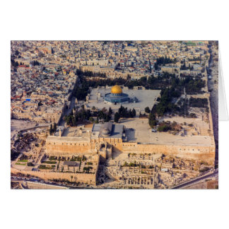 Temple Mount Old City Jerusalem Dome of the Rock Card