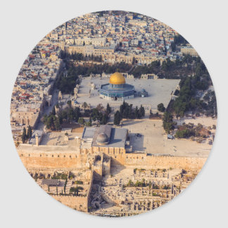 Temple Mount Old City Jerusalem Dome of the Rock Classic Round Sticker