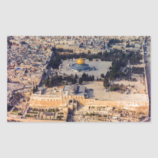 Temple Mount Old City Jerusalem Dome of the Rock Rectangular Sticker